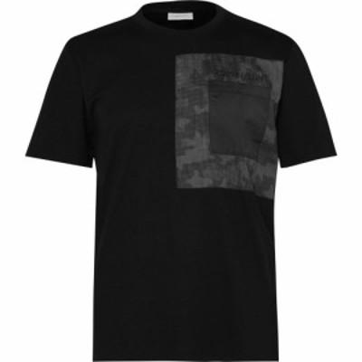 カルバンクライン Calvin Klein メンズ Tシャツ ポケット トップス Camo Pocket T Shirt Black BEH