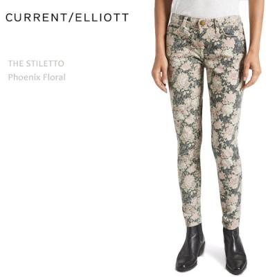 【SALE】【50%OFF】Current Elliott カレントエリオット THE STILETTO Phoenix Floral クロップドスキニー