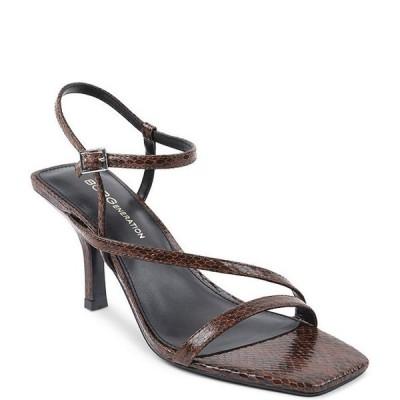 BCBジェネレーション レディース サンダル シューズ Millani Square Toe Snake Print Dress Sandals