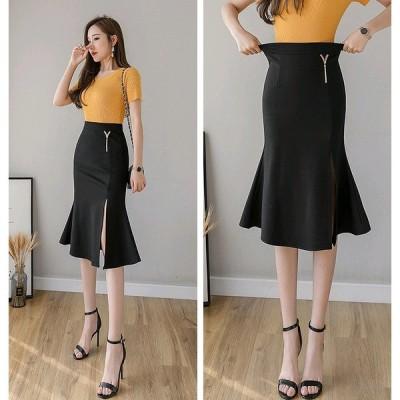 大きいサイズS-5XL ファッションスカート ブラック/アカ2色展開
