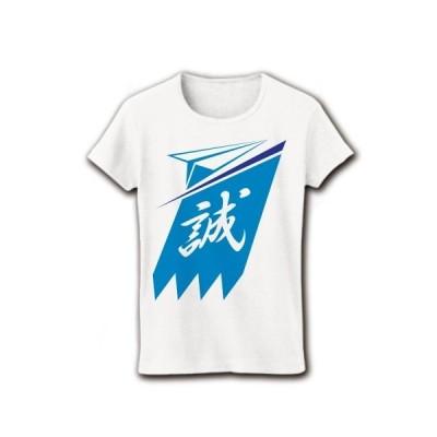平成新撰組(仮)のエンブレム リブクルーネックTシャツ(ホワイト)
