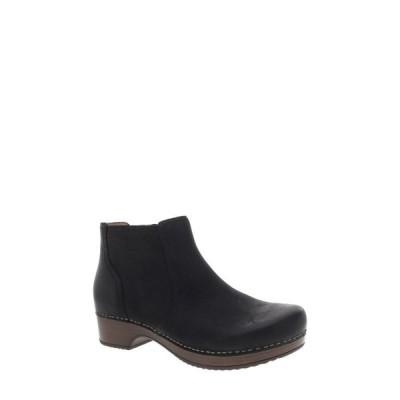 ダンスコ DANSKO レディース ブーツ シューズ・靴 Barbara Bootie Black Nubuck Leather