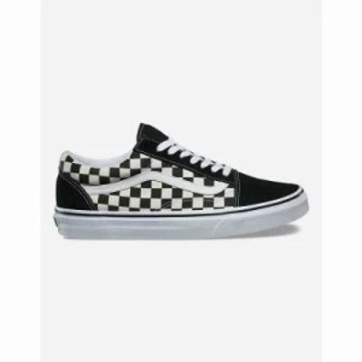 ヴァンズ スニーカー Checkered Old Skool Shoes Black/White