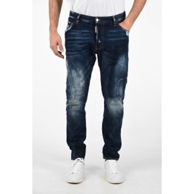 DSQUARED2/ディースクエアード Blue メンズ 17cm Distressed CLASSIC KENNY TWIST Jeans dk