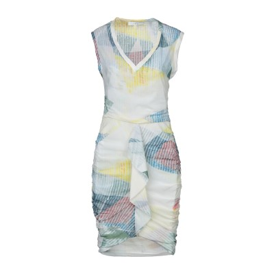 イロ IRO ミニワンピース&ドレス アイボリー 36 シルク 92% / ポリウレタン 8% ミニワンピース&ドレス