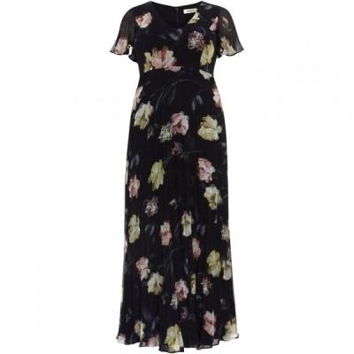 スタジオ8 Studio 8 レディース ワンピース ワンピース・ドレス Megan Floral Pleated Maxi Dress Navy