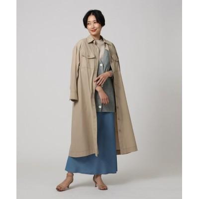 UNTITLED(アンタイトル) 【洗える】NALYAロングシャツコート