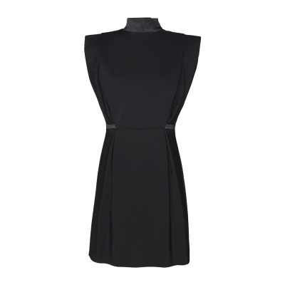 8 by YOOX ミニワンピース&ドレス ブラック 44 コットン 50% / ナイロン 46% / ポリウレタン 4% ミニワンピース&ドレス