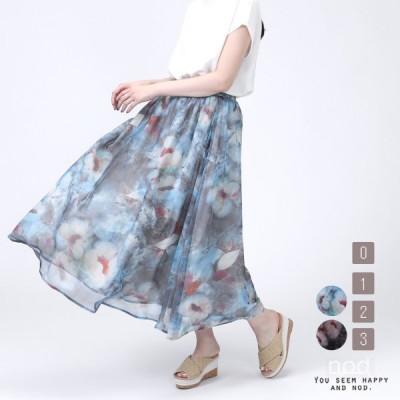 n-4787 花柄ロングスカート