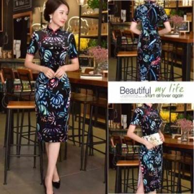 チャイナドレス コスプレ 衣装 膝丈 ドレス 大きいサイズ ドレス 結婚式 ドレス パーティー チャイナ ワンピースチャイナ服
