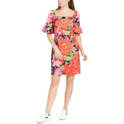 トリーナターク ワンピース トップス レディース Trina by Trina Turk Mini Kanan Sheath Dress ink and orange multicolor