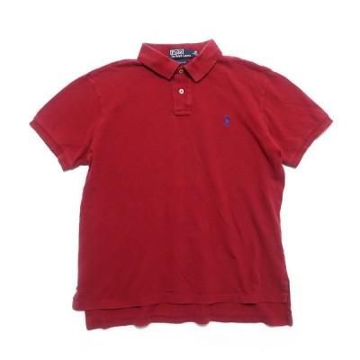 ポロラルフローレン ワンポイント ロゴ ポロシャツ レッド サイズ表記:L