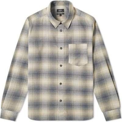 アーペーセー A.P.C. メンズ シャツ オーバーシャツ トップス John Checked Overshirt Beige