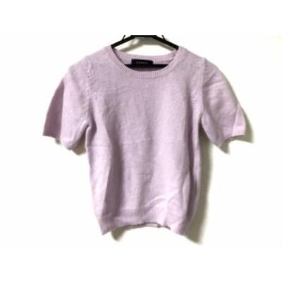 ジャスグリッティー JUSGLITTY 半袖セーター サイズ2 M レディース ピンク ニット【中古】20200320
