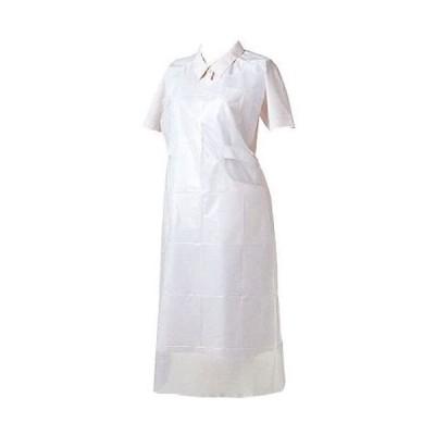 感染対策 防護服 使い捨てエプロン ビニールエプロンP 50枚入 ホワイト 76335 竹虎
