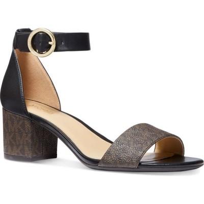 マイケル コース Michael Kors レディース サンダル・ミュール シューズ・靴 Lena Block Heel Dress Sandals Brown/Black