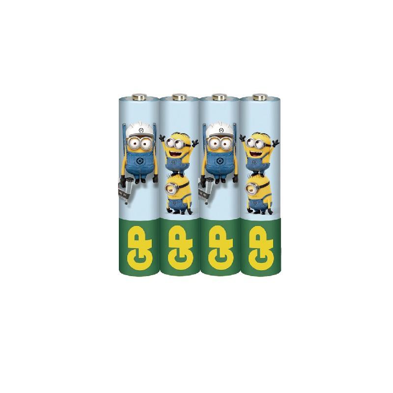 小小兵碳鋅電池4號4入