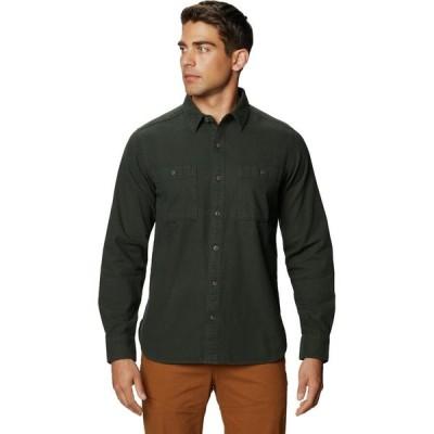 (取寄)マウンテンハードウェア エッジ ロングスリーブ シャツ - メンズ Mountain Hardwear Catalyst Edge Long-Sleeve Shirt - Men's Black Sage