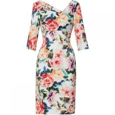 ジーナ バッコーニ Gina Bacconi レディース ワンピース ワンピース・ドレス Isolena Floral Scuba Dress Poppy