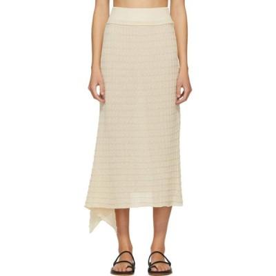 RUS レディース ひざ丈スカート スカート Off-White Etoile Skirt Chalk