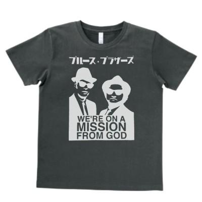 音楽・バンド・ロック・シネマ  Tシャツ カタカナ ブルース ブラザーズ The Blues Brothers スモーク MLサイズ