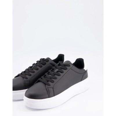 トリュフコレクション Truffle Collection メンズ スニーカー シューズ・靴 minimal chunky trainers in black ブラック
