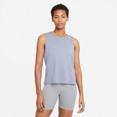 ナイキ カットソー トップス レディース Nike Women's Yoga Dots Twist Tank Top Gray Medium 03
