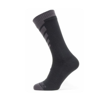 SEALSKINZ Waterproof Warm Weather Mid Length Sock Black/Grey size-XL 11100055010140 全国送料無料 │ シールスキンズ ソックス 靴下 XLサイズ