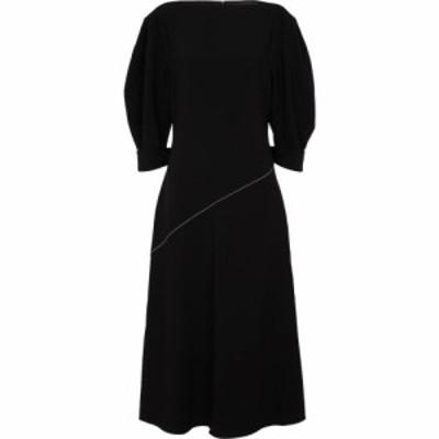 プロエンザ スクーラー Proenza Schouler レディース ワンピース ミドル丈 ワンピース・ドレス Crepe midi dress Black