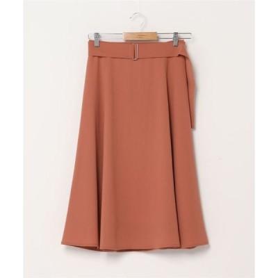 スカート SHIPS any:ベルトフレアスカート