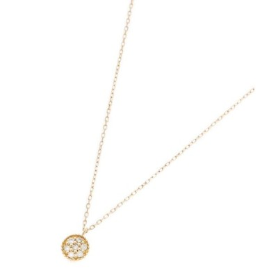 COCOSHNIK/ココシュニック K18ダイヤモンド 玉爪パヴェネックレス イエローゴールド(104) 40