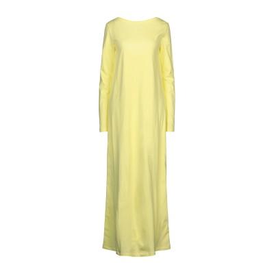 DOUUOD ロングワンピース&ドレス イエロー M コットン 100% ロングワンピース&ドレス