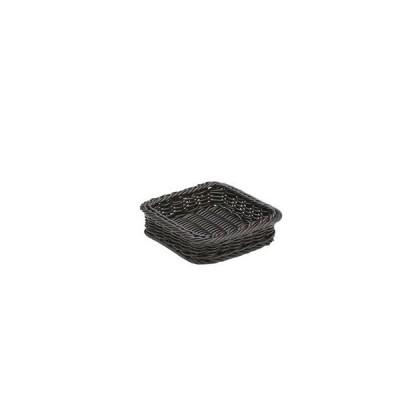 萬洋 樹脂製太渕ディスプレイかご 正角 黒 91-026B WKG3602