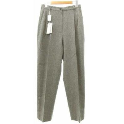 【中古】未使用品 BASILE 28 パンツ スラックス パンツ タック ウール テーパード 46 グレー SEJ R060719 レディース
