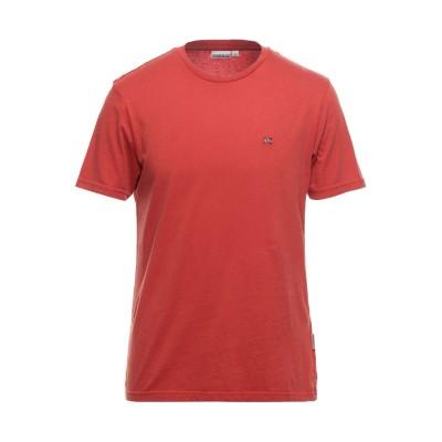 ナパピリ NAPAPIJRI T シャツ 赤茶色 S コットン 100% T シャツ
