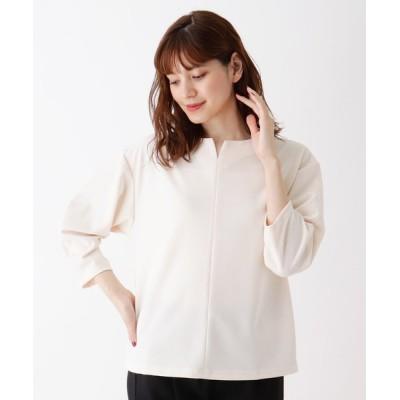 tシャツ Tシャツ 【M-LL】キーネックジャージプルオーバー