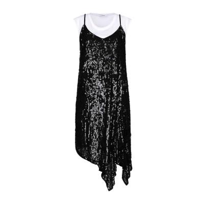パロッシュ P.A.R.O.S.H. ミニワンピース&ドレス ブラック S ナイロン 100% / ポリ塩化ビニル ミニワンピース&ドレス