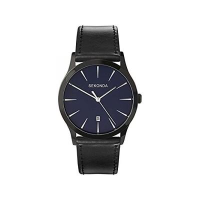 新品未使用[メンズウォッチ]Sekonda Men's Quartz Watch with Analogue Display and Black PU Stra欧米輸入品
