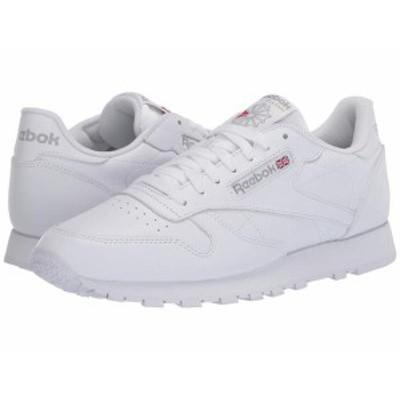 リーボック メンズ スニーカー シューズ Classic Leather White/White/Lig