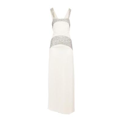 INTROPIA ロングワンピース&ドレス アイボリー 36 レーヨン 100% ロングワンピース&ドレス