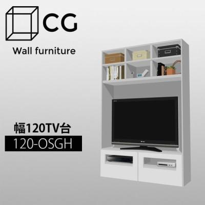 壁面収納家具CG TV台幅120cm奥行32cm 120-OSGH 壁面収納 テレビ台 テレビボード