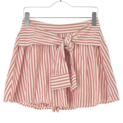COLZA / コルザ インナーパンツ付きストライプ柄ミニ スカート