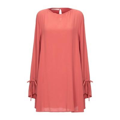 OPERÀ ミニワンピース&ドレス 赤茶色 40 レーヨン 100% ミニワンピース&ドレス