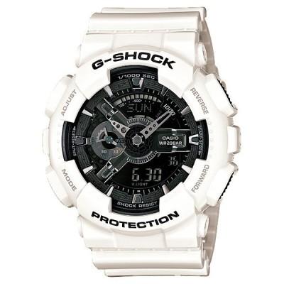 国内正規品 CASIO カシオ G-SHOCK Gショック ホワイト/ブラック メンズ腕時計 GA-110GW-7AJF