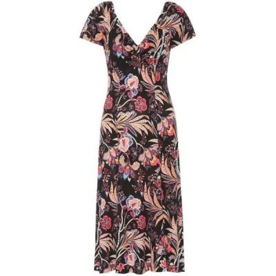 エトロ Etro レディース ワンピース ワンピース・ドレス floral printed dress Black