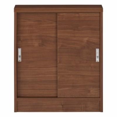 家具 収納 キッチン収納 食器棚 1cmピッチで棚板調整カウンター下引き戸収納庫 幅60cm(2枚扉) 奥行21.5cm・高さ70cm 549904