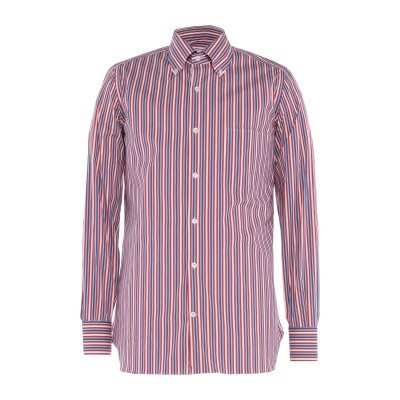 GIAMPAOLO シャツ ブルー 38 コットン 77% / ナイロン 18% / ポリウレタン 5% シャツ