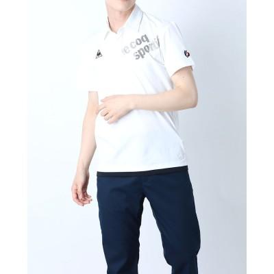 ルコックスポルティフ le coq sportif メンズ 半袖ポロシャツ ハンソデエリツキシャツ QMMRJA50CH (ホワイト)