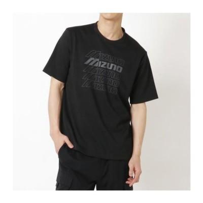 [ミズノ] グラフィックTシャツ[ユニセックス] ブラック