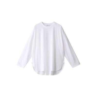 SACRA サクラ コンパクトシルクコットンロングスリーブTシャツ レディース ホワイト 38